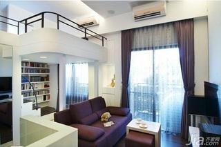 简约风格小户型经济型60平米客厅沙发效果图