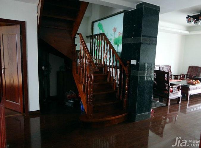 中式风格复式富裕型140平米以上楼梯装修效果图