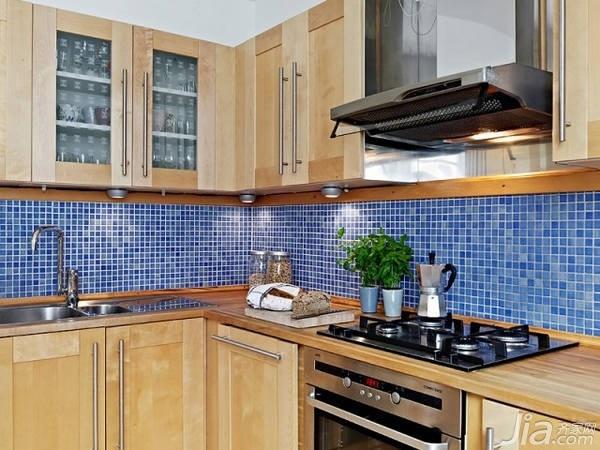 混搭风格二居室经济型厨房橱柜效果图