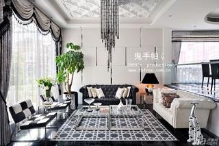 鬼手帕新古典风格别墅奢华豪华型客厅吊顶沙发效果图