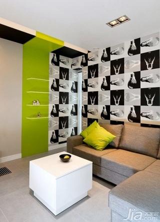 简约风格跃层富裕型客厅沙发效果图