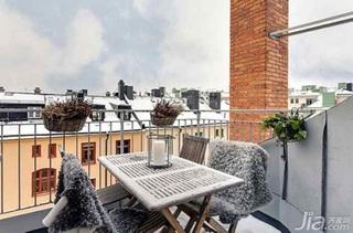 欧式风格公寓富裕型140平米以上露台装修效果图