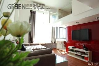 loft风格小户型经济型40平米客厅电视柜效果图