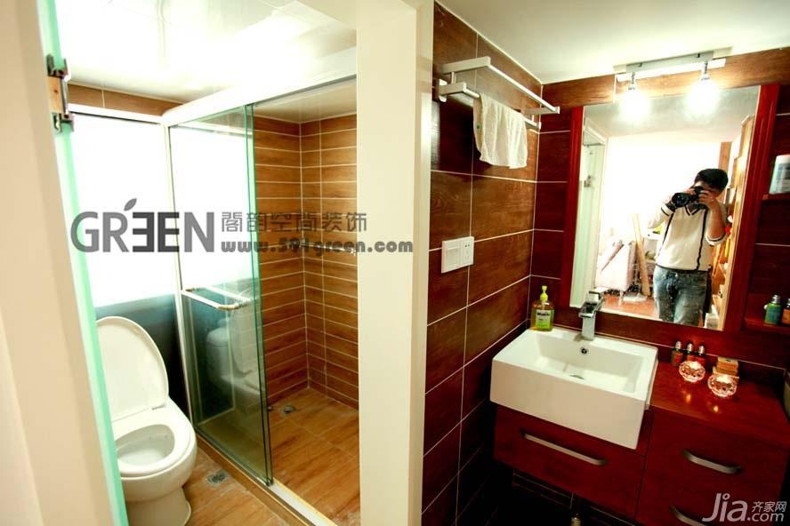 loft风格小户型经济型40平米卫生间洗手台效果图