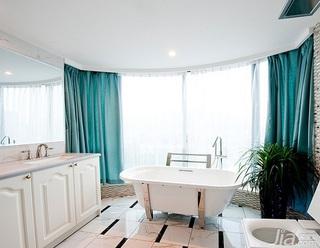 新古典风格四房浪漫白色豪华型140平米以上主卫窗帘效果图