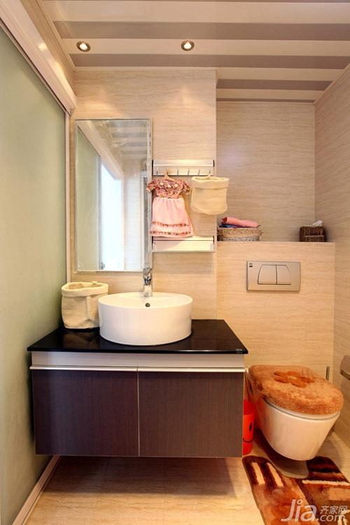 简约风格小户型经济型60平米卫生间洗手台婚房设计图