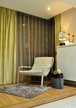 简约风格四房富裕型阳台窗帘婚房设计图