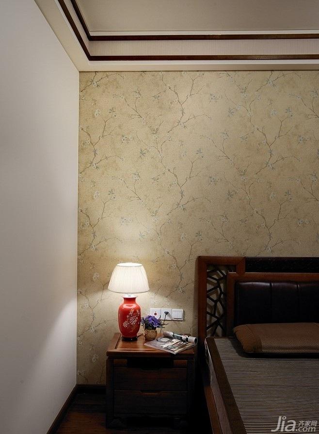东南亚风格公寓15-20万120平米卧室床效果图