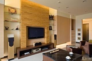 简约风格三居室富裕型120平米电视背景墙电视柜效果图