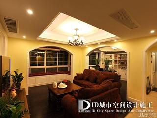 中式风格别墅富裕型140平米以上客厅沙发效果图