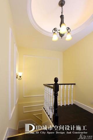 中式风格别墅富裕型140平米以上楼梯灯具效果图