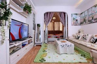 田园风格小户型经济型60平米客厅电视柜图片