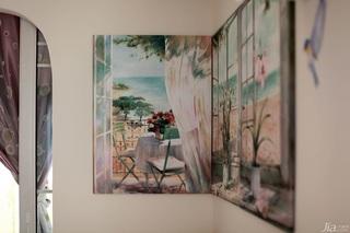 田园风格小户型经济型60平米客厅沙发背景墙装修效果图