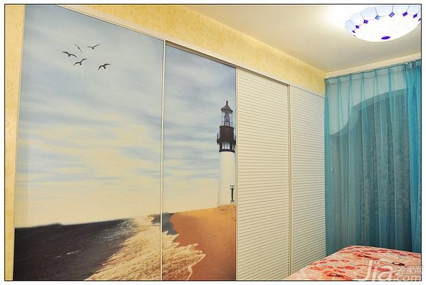 地中海风格公寓富裕型50平米卧室衣柜定制