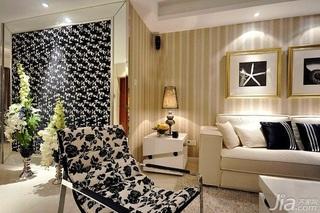 简约风格公寓富裕型130平米客厅沙发背景墙婚房家装图片