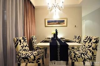 简约风格公寓富裕型130平米餐厅餐桌婚房家装图