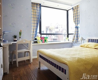 简约风格公寓富裕型120平米卧室飘窗书桌效果图