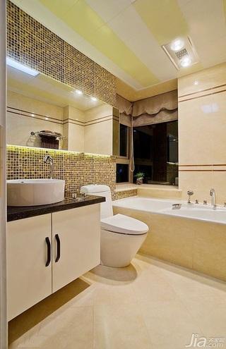 简约风格公寓富裕型130平米卫生间装潢