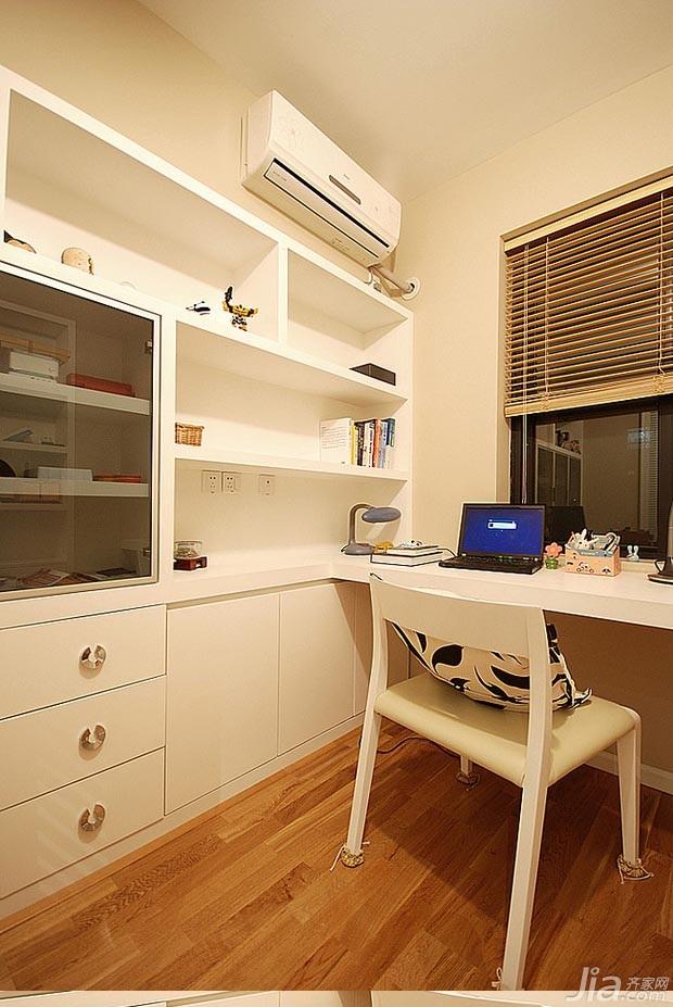 混搭风格公寓富裕型100平米书房书桌图片