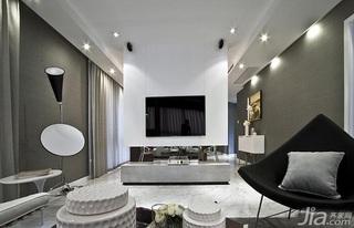 简约风格公寓富裕型客厅吊顶电视柜图片