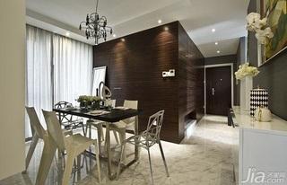 简约风格公寓富裕型餐厅吊顶餐桌图片