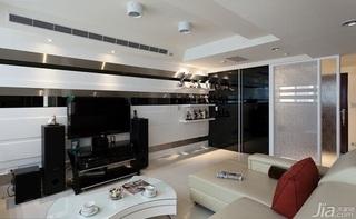 简约风格二居室富裕型玄关隔断装修效果图