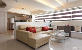 简约风格二居室富裕型客厅沙发效果图