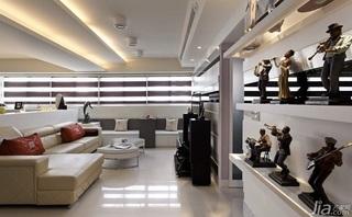 简约风格二居室富裕型客厅吊顶沙发效果图