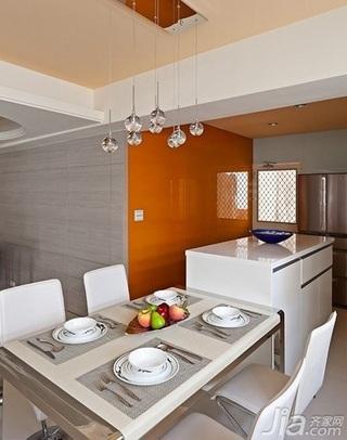 简约风格二居室富裕型餐厅吧台装修效果图