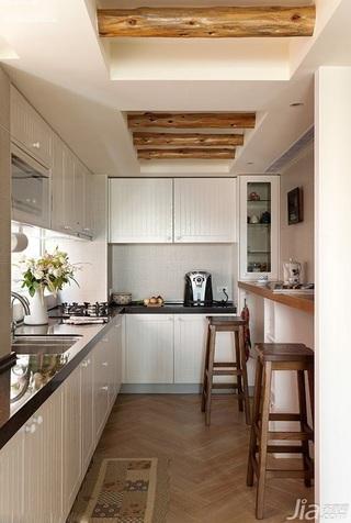 美式风格复式富裕型厨房吊顶橱柜效果图