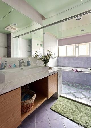 美式风格复式富裕型卫生间吊顶洗手台效果图
