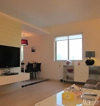 欧式风格二居室经济型60平米客厅电视背景墙茶几效果图