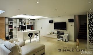 简约风格复式富裕型140平米以上客厅吧台电视柜效果图