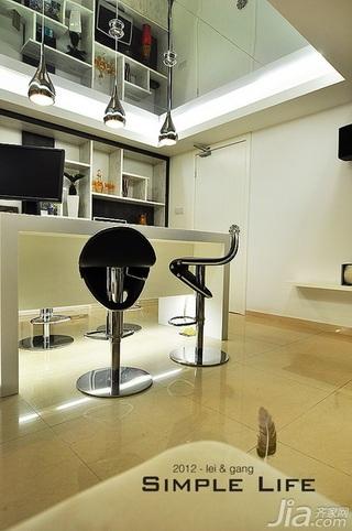 简约风格复式富裕型140平米以上吧台吧台椅图片