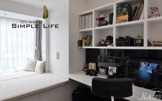 简约风格复式富裕型140平米以上书房飘窗书桌效果图