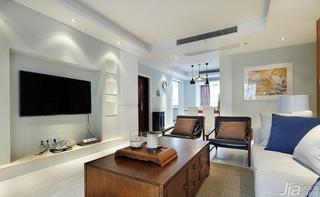 宜家风格三居室富裕型130平米客厅吊顶茶几效果图