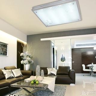 简约风格富裕型110平米客厅灯具效果图