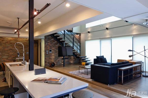 loft风格跃层富裕型客厅吊顶台湾家居