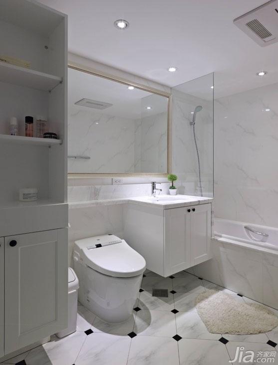 美式乡村风格二居室富裕型120平米卫生间装潢