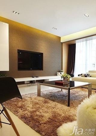 简约风格三居室电视背景墙婚房平面图