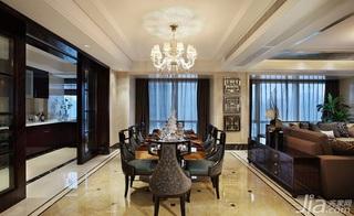 混搭风格二居室富裕型130平米餐厅吊顶餐桌图片