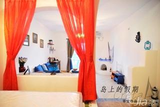 非空东南亚风格公寓富裕型120平米卧室隔断床效果图