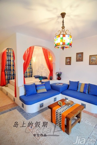非空东南亚风格公寓富裕型120平米客厅沙发效果图