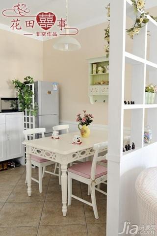 非空田园风格公寓经济型80平米餐厅隔断餐桌婚房家装图