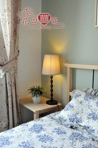 非空田园风格公寓经济型80平米卧室床婚房家装图片