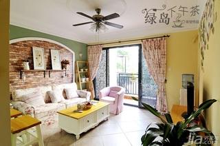 非空田园风格公寓经济型80平米客厅沙发背景墙沙发效果图