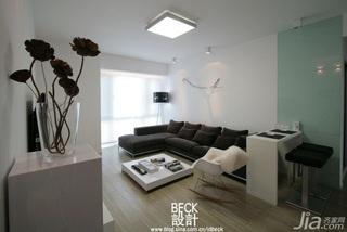 简约风格一居室富裕型90平米客厅吧台沙发效果图
