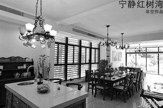 非空东南亚风格别墅20万以上140平米以上餐厅吧台餐桌效果图