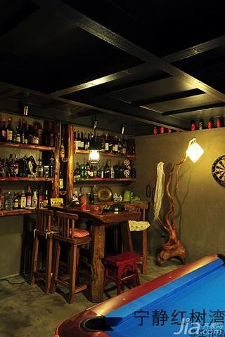 非空东南亚风格别墅20万以上140平米以上地下室吧台吧台椅效果图