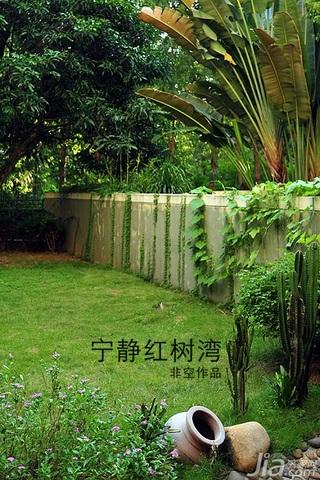 非空东南亚风格别墅20万以上140平米以上庭院装潢